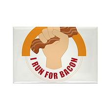 I Run For Bacon Rectangle Magnet