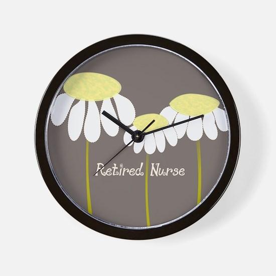 Retired Nurse Daisies Wall Clock