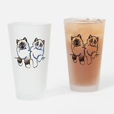 Ragdolls Pair Off-Leash Art™ Drinking Glass