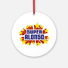 Alonso the Super Hero Ornament (Round)
