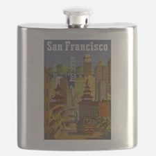 Vintage San Francisco Travel Flask
