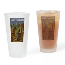 Vintage San Francisco Travel Drinking Glass