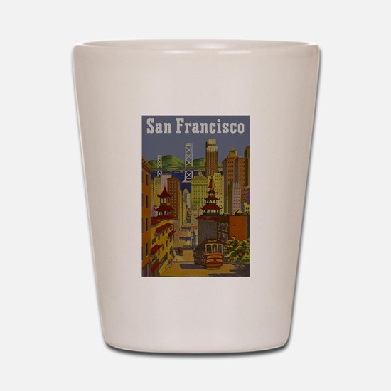 Vintage San Francisco Travel Shot Glass
