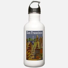 Vintage San Francisco Travel Water Bottle