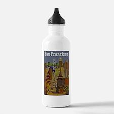 Vintage San Francisco Travel Water Bottle