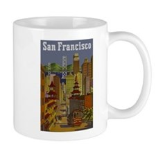 Vintage San Francisco Travel Mug