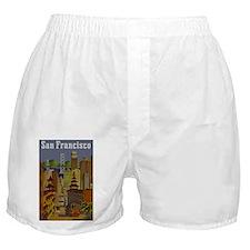 Vintage San Francisco Travel Boxer Shorts