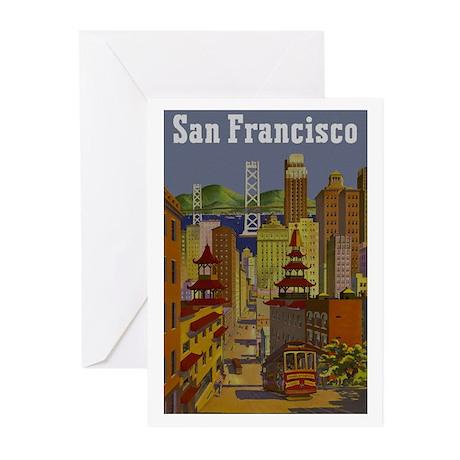 Vintage San Francisco Travel Greeting Cards (Pk of