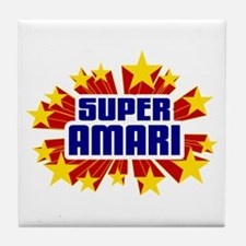 Amari the Super Hero Tile Coaster