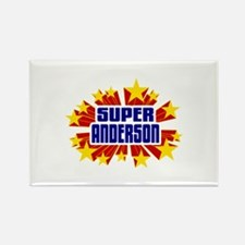 Anderson the Super Hero Rectangle Magnet