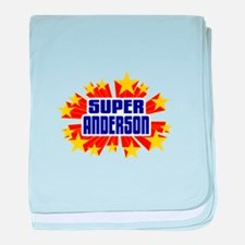 Anderson the Super Hero baby blanket