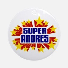Andres the Super Hero Ornament (Round)