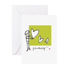 Give From the Heart Greeting Card