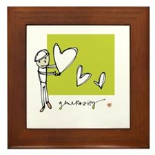 Give From the Heart Framed Tile