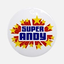 Andy the Super Hero Ornament (Round)