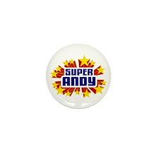 Andy the Super Hero Mini Button