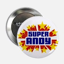 "Andy the Super Hero 2.25"" Button"