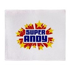 Andy the Super Hero Throw Blanket