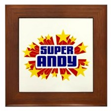 Andy the Super Hero Framed Tile