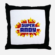 Andy the Super Hero Throw Pillow