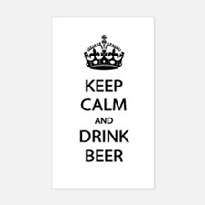 Keep Calm Drink Beer Bumper Stickers