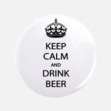 "Keep Calm Drink Beer 3.5"" Button (100 pack)"