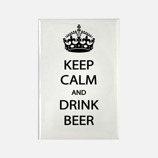 Keep Calm Drink Beer Rectangle Magnet