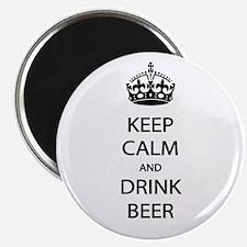 """Keep Calm Drink Beer 2.25"""" Magnet (100 pack)"""