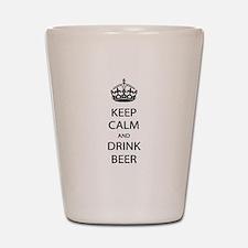 Keep Calm Drink Beer Shot Glass