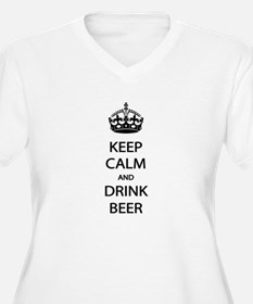 Keep Calm Drink Beer Plus Size T-Shirt