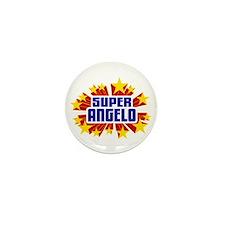 Angelo the Super Hero Mini Button