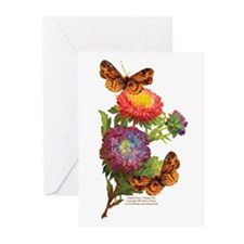"""Butterflies with Mums"" NoteCards(Pkg of"