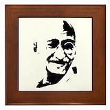 Ghandi Framed Tiles