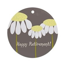 happy retirement daisies Ornament (Round)