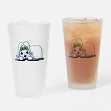 Precious Maltese Drinking Glass