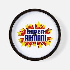 Armani the Super Hero Wall Clock