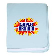 Armani the Super Hero baby blanket
