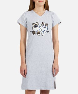 Ragdolls Pair Off-Leash Art™ Women's Nightshirt