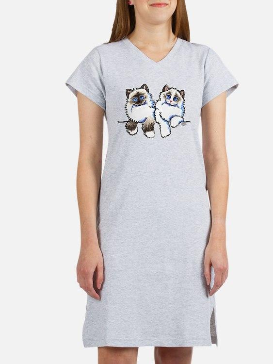 Ragdolls Pair Off-Leash Art™ Women's Nightshirt