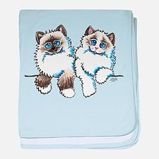 Ragdolls Pair Off-Leash Art™ baby blanket