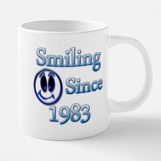 Smiling Since 1983 Mugs