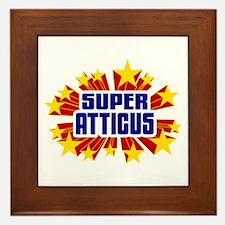 Atticus the Super Hero Framed Tile