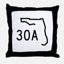 30A Florida Coast Throw Pillow