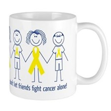 Friends don't let friends fight cancer alone! Small Mug