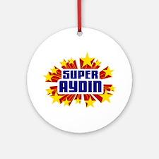 Aydin the Super Hero Ornament (Round)