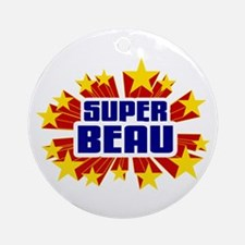 Beau the Super Hero Ornament (Round)