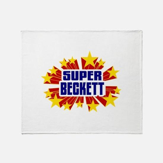 Beckett the Super Hero Throw Blanket