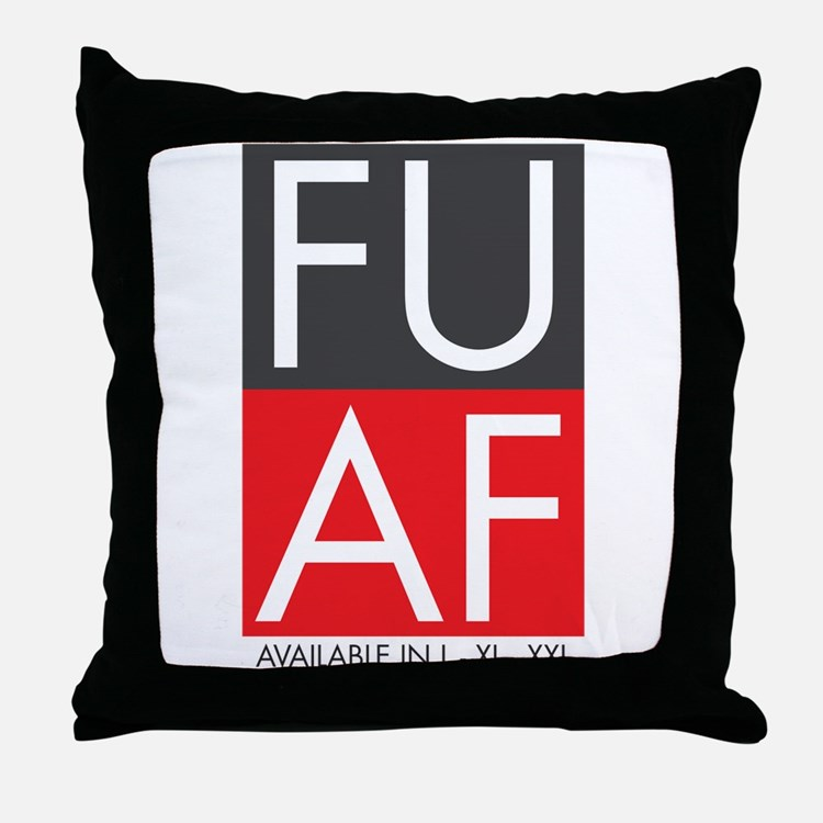 FU AF Throw Pillow