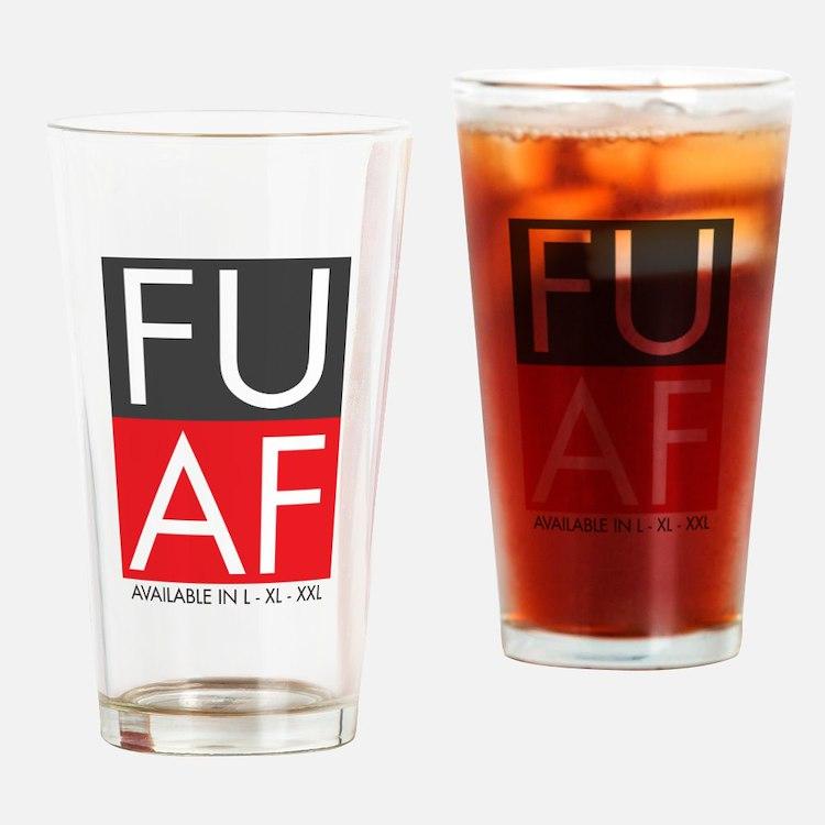 FU AF Drinking Glass