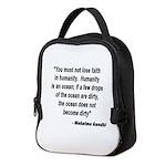 FAITH IN HUMANITY GANDHI QUOTE Neoprene Lunch Bag